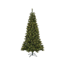 Vickerman 7.5-ft Pre-Lit Pine Green Artificial Christmas Tree with White Incandescent Lights