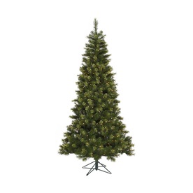 Vickerman 10-ft Indoor Pine Pre-Lit Slim Jack Pine Tree with Lights Artificial Christmas Tree with Clear Lights