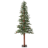 Vickerman 5-ft Pre-Lit Winterberry Slim Artificial Christmas Tree with White Incandescent Lights