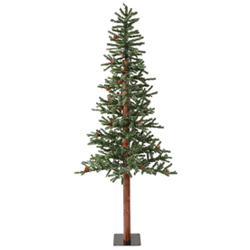 Vickerman 6-ft Pre-Lit Winterberry Slim Artificial Christmas Tree with White Incandescent Lights