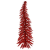 Vickerman 2.5-ft Pre-Lit Whimsical Slim Artificial Christmas Tree with Red Incandescent Lights