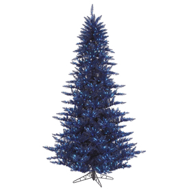 Vickerman 4.5-ft Pre-Lit Fir Artificial Christmas Tree with Blue Incandescent Lights