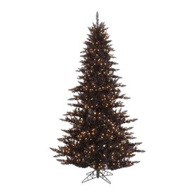 Vickerman 4.5-ft Pre-Lit Fir Slim Artificial Christmas Tree with White Incandescent Lights