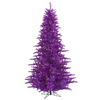 Vickerman 4.5-ft Pre-Lit Fir Artificial Christmas Tree with Purple Incandescent Lights