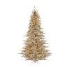 Vickerman 5.5-ft Indoor Fir Pre-Lit Champagne Fir Artificial Christmas Tree with Clear Lights