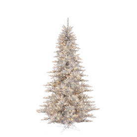 Vickerman 6.5-ft Indoor Fir Pre-Lit Silver Fir Artificial Christmas Tree with Clear Lights