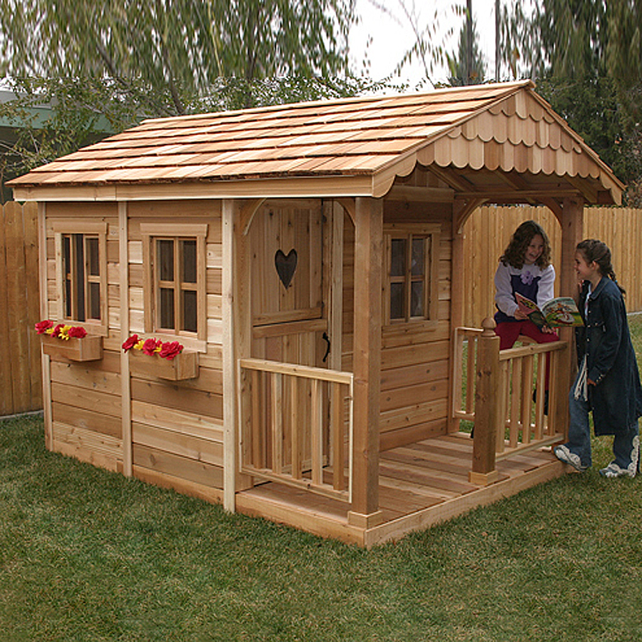 Shop Outdoor Living Today Sunflower Wood Playhouse Kit at Lowes.com