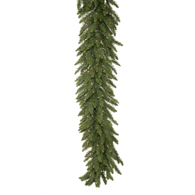 Vickerman 14-in x 50-ft Pre-Lit Indoor/Outdoor Camden Fir Artificial Christmas Garland with White Incandescent Lights