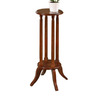All Things Cedar 24-in Cherry Indoor Round Composite Plant Stand