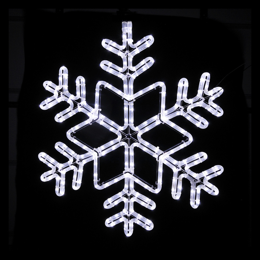 Shop holiday lighting specialists 24 in snowflake outdoor for Led christmas decorations
