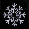 Holiday Lighting Specialists 30-in Snowflake Outdoor Christmas Decoration with LED White Lights