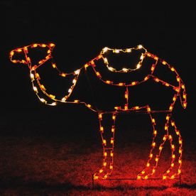 Holiday Lighting Specialists 5.42-ft Camel Outdoor Christmas Decoration with LED Multicolor Lights