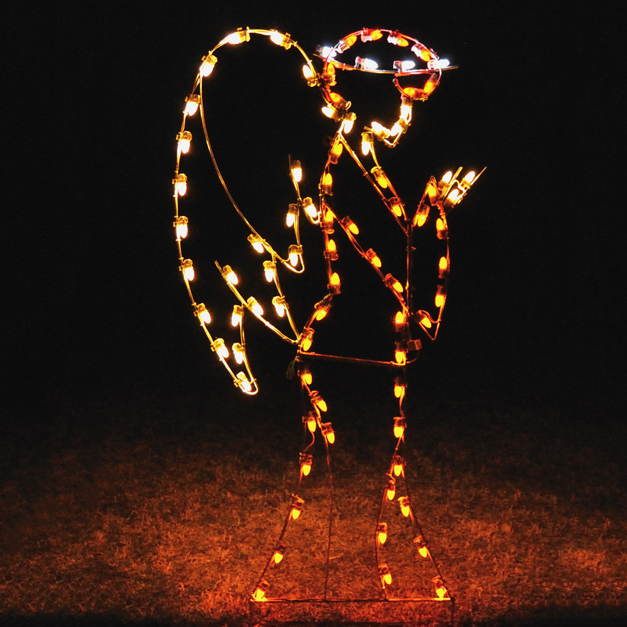 Shop holiday lighting specialists angel outdoor for Led christmas decorations