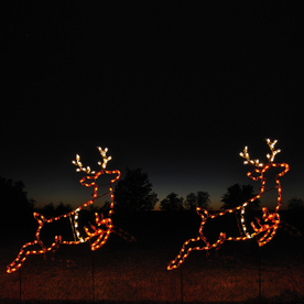 Home train set train set outdoor lighted christmas for Animated lighted reindeer christmas decoration