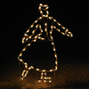 Holiday Lighting Specialists 6.25-ft Victorian Skating Woman Outdoor Christmas Decoration with LED White Lights