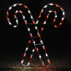 Holiday Lighting Specialists 5-ft Crossed Candy Canes Outdoor Christmas Decoration with LED Multicolor Lights