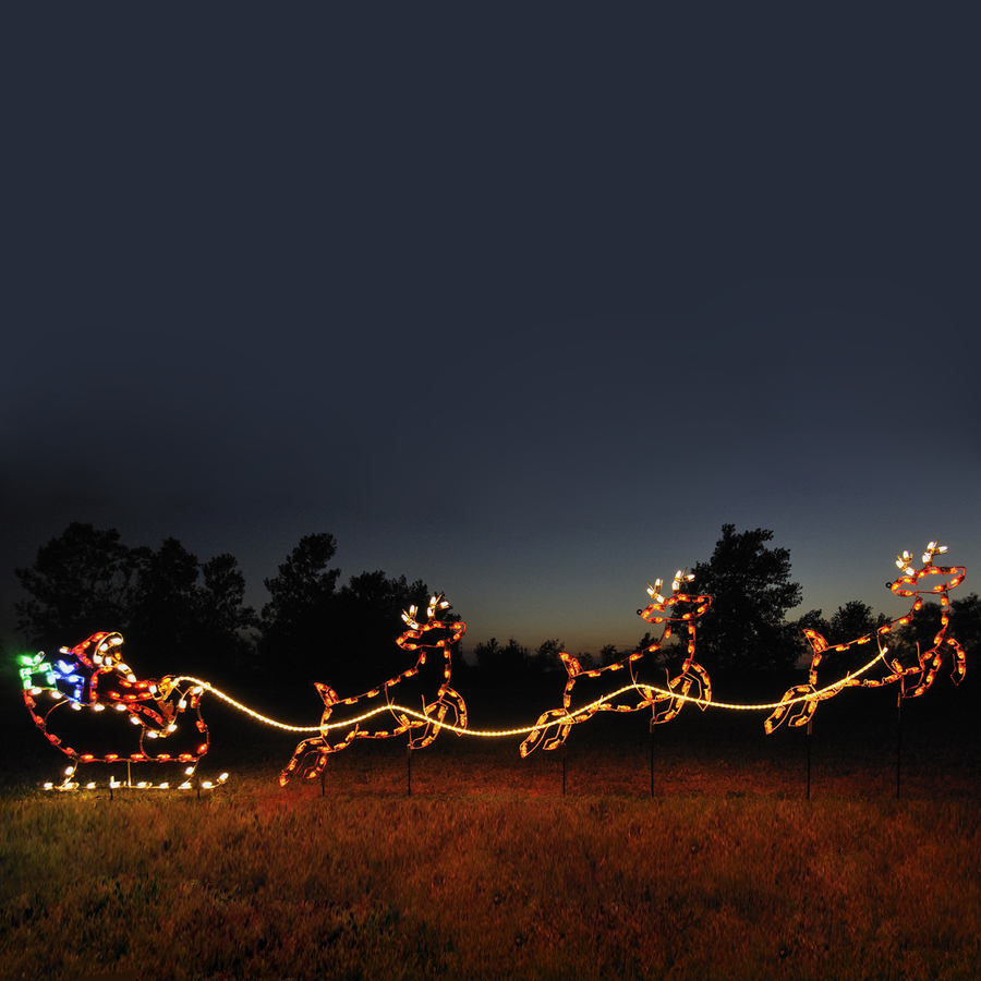 Shop holiday lighting specialists santa sleigh for Outdoor christmas