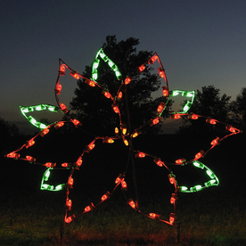 Shop Holiday Lighting Specialists 4 Ft Large Poinsettia