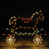 Holiday Lighting Specialists 4.17-ft Rocking Horse Train Car Outdoor Christmas Decoration with LED Multicolor Lights