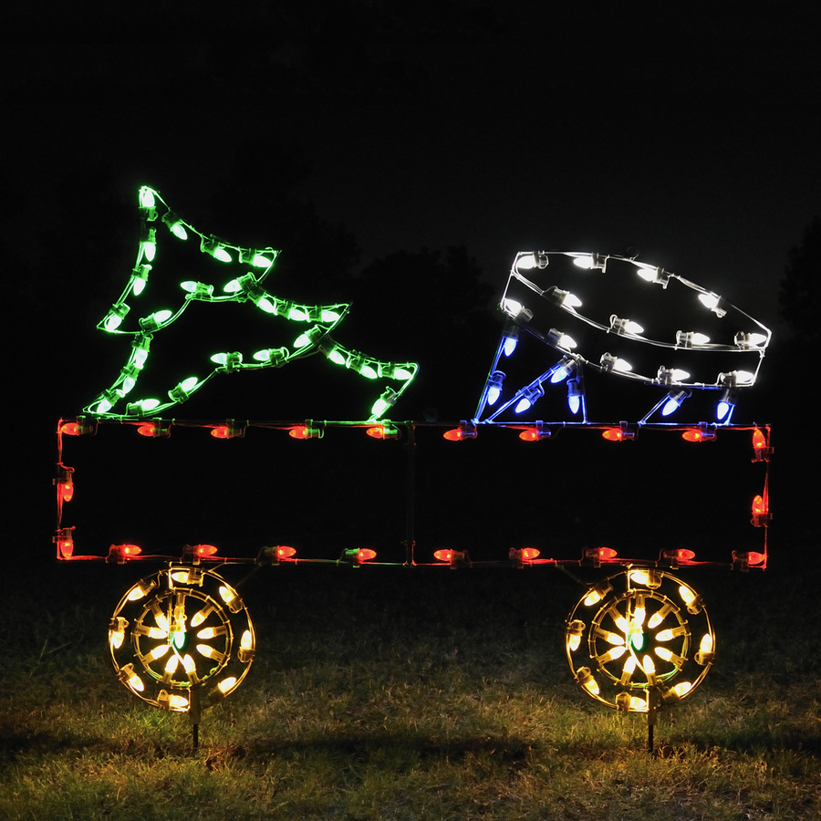 Shop holiday lighting specialists gondola train for Outdoor christmas train decoration