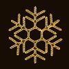 Holiday Lighting Specialists 3-ft Hexagon Snowflake Outdoor Christmas Decoration with LED White Lights