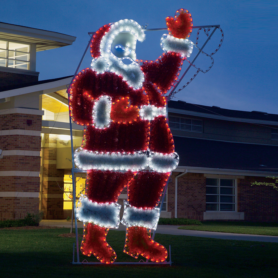 Shop holiday lighting specialists 17 ft animated waving for Led outdoor christmas ornaments
