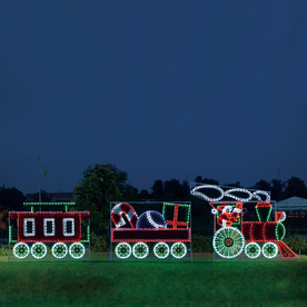 Specialists 10 ft animated santa s train outdoor christmas decoration