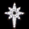 Holiday Lighting Specialists 4.8-ft Garland Star Of Bethlehem Outdoor Christmas Decoration with LED White Lights