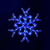 Holiday Lighting Specialists 3-ft Hanging Garland Snowflake Outdoor Christmas Decoration with LED Blue Lights