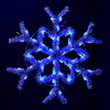 Holiday Lighting Specialists 4-ft Hanging Garland Snowflake Outdoor Christmas Decoration with LED Blue Lights