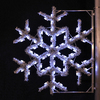 Holiday Lighting Specialists 4-ft Garland Snowflake Pole Decoration Outdoor Christmas Decoration with LED White Lights