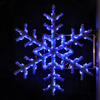 Holiday Lighting Specialists 5-ft Garland Snowflake Pole Decoration Outdoor Christmas Decoration with LED Blue Lights