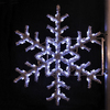 Holiday Lighting Specialists 5-ft Garland Snowflake Pole Decoration Outdoor Christmas Decoration with LED White Lights