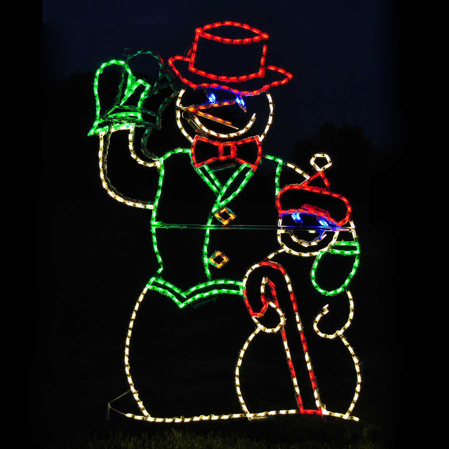 Shop holiday lighting specialists 4 ft animated waving for Animated decoration