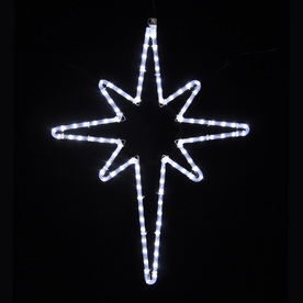 Holiday Lighting Specialists 2.58-ft Star Of Bethlehem Outdoor Christmas Decoration with LED White Lights