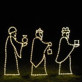 Holiday Lighting Specialists 3.8-ft Small 3 Wise Men Outdoor Christmas Decoration with Incandescent White Lights