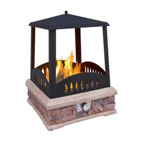 Landmann USA 38,000-BTU Black Steel Outdoor Liquid Propane Fireplace