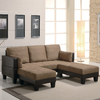 Coaster Fine Furniture Tan Microfiber Sleeper Sofa