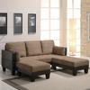 Coaster Fine Furniture Tan Microfiber Sleeper Sofa