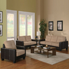 Coaster Fine Furniture 3-Piece Regatta Cream Brown Living Room Set