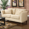 Coaster Fine Furniture Park Place Cream Velvet Stationary Loveseat
