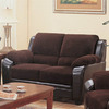 Coaster Fine Furniture Monika Chocolate Stationary Loveseat