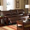 Coaster Fine Furniture Clifford Dark Brown Leather Dual Reclining Sofa
