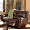 Coaster Fine Furniture Clifford Dark Brown Leather Dual Reclining Loveseat