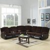 Coaster Fine Furniture Johanna Chocolate Corduroy Dual Reclining Sofa