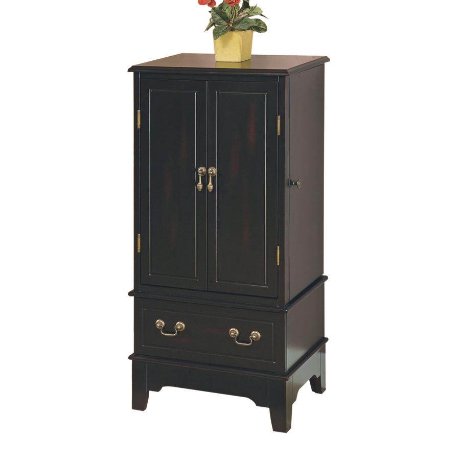 Shop Coaster Fine Furniture Black Floorstanding Jewelry ...