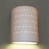 Ameritec Lighting Half Cylinder 9.25-in H Paintable Bisque Dark Sky Outdoor Wall Light