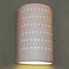 Ameritec Lighting Half Cylinder 15-in H Paintable Bisque Dark Sky Outdoor Wall Light