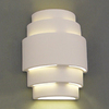 Ameritec Lighting Zigurat 13.875-in H Paintable Bisque Outdoor Wall Light