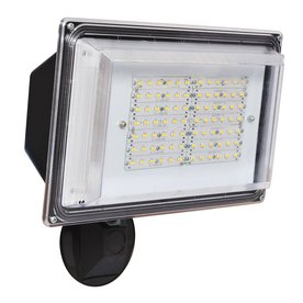 Amax Lighting 12.6-in 1-Head LED Bronze Switch-Controlled Flood Light